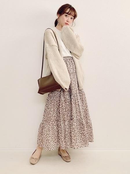 小花柄スカート2