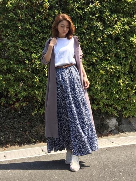 小花柄スカート3