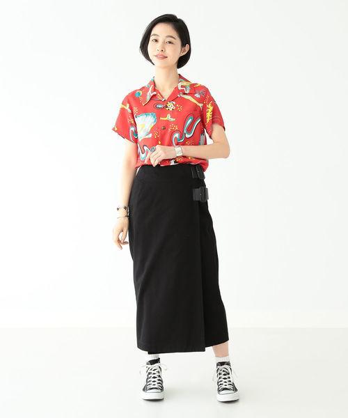 [BEAMS WOMEN] SUN SURF × BEAMS BOY / ハワイアン ショートスリーブ シャツ