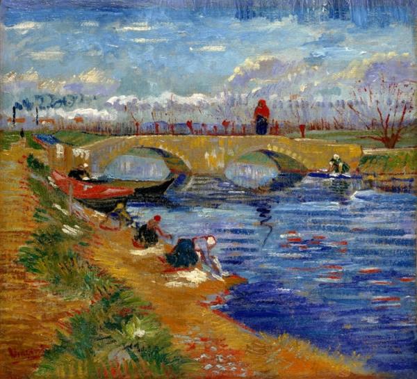 フィンセント・ファン・ゴッホ《ヴィゲラ運河にかかるグレーズ橋》1888年 ポーラ美術館蔵