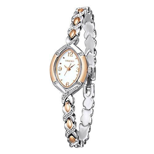 Time100 ダブルトーン チェーンブレスレット 日本製Citizenムーブメント レディース腕時計 #W50170L.01AN