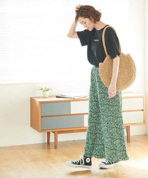 [ROPE' PICNIC] 【WEB限定】【新色追加】プリーツフラワースカート