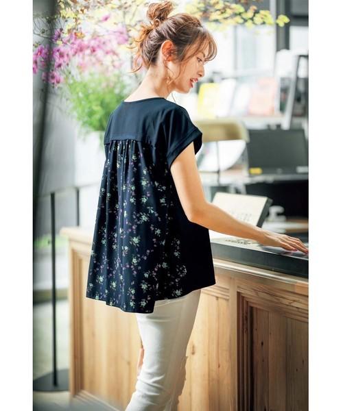 [GeeRA] 【19夏新着】バックプリント切替Tシャツ