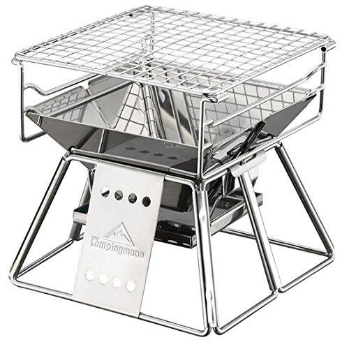 バーベキューコンロ・焚火台 世界最小 CAMPINGMOON ミニBBQコンロ 収納バッグ付き