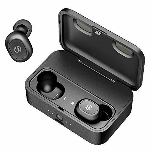 SoundPEATS(サウンドピーツ) Q32 Bluetooth 5.0 完全ワイヤレス イヤホン 最大80時間再生 TWS 高音質 低遅延 ノイズキャンセリング機能 自動ペアリング 片耳&両耳モード 超軽量 左右分離型 連続再生 ブルートゥースイヤホン 防水&防汗 イヤホン 充電ケース付き [メーカー1年保証] ブラック