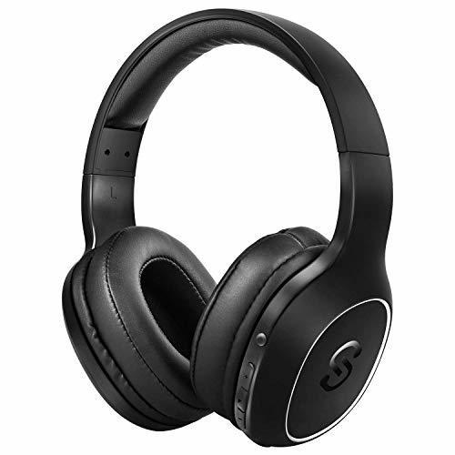 SoundPEATS(サウンドピーツ) Bluetooth ヘッドホン A2 密閉型 低音強化 EQ機能 40mm径大型ドライバー 高音質 ワイヤレス ヘッドホン 20時間連続再生 ワイヤレス&有線両用 マイク付き ブルートゥース ステレオヘッドフォン ブラック