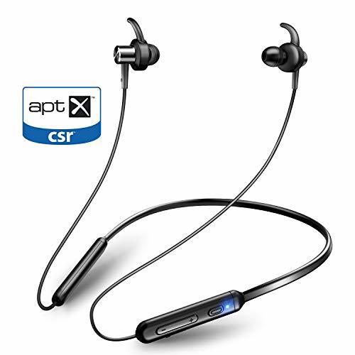 【APT-X&AAC対応+マグネット搭載】Bluetooth イヤホン スポーツ ブルートゥース イヤホン 9.5時間連続再生 IPX6防水 ワイヤレス イヤホン マイク付き CVC6.0ノイズキャンセリング Bluetooth ヘッドホン 日本語音声提示 iPhone、iPod、Android用 Joyhouse (ブラック)