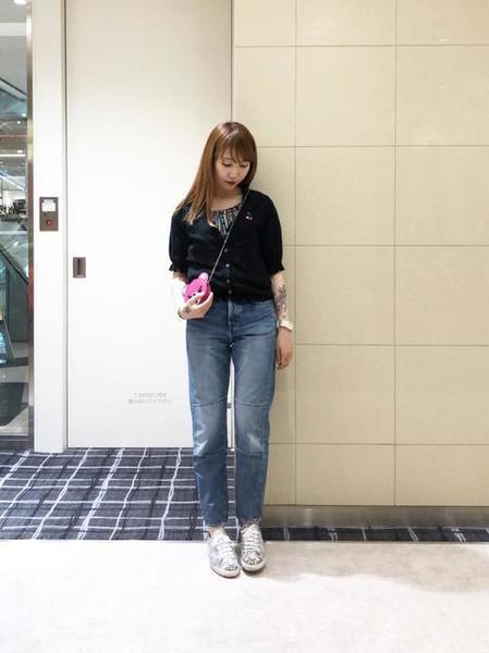10[HYSTERIC GLAMOUR] H CHERRY刺繍カーディガン