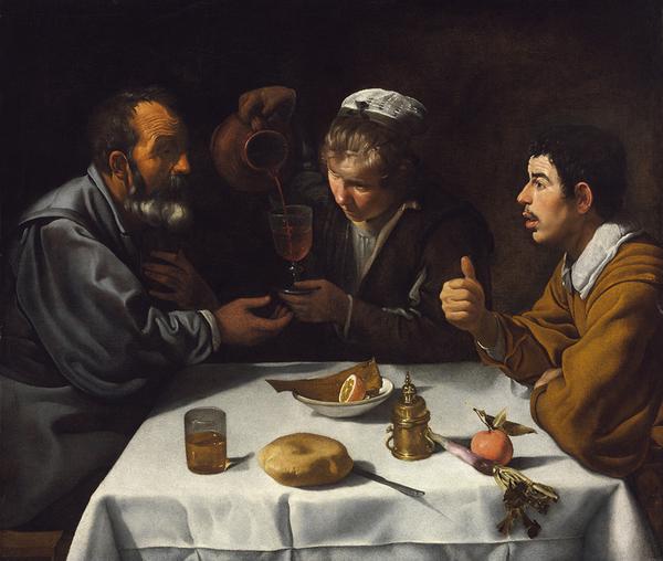 ディエゴ・ベラスケス 《宿屋のふたりの男と少女》 1618-19年頃 油彩/カンヴァス ブダペスト国立西洋美術館 Szépművészeti Múzeum/ Museum of FineArts, Budapest
