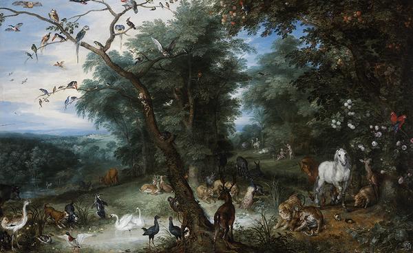 ヤン・ブリューゲル(父) 《堕罪の場面のある楽園の風景》 1612-13年頃 油彩/板 ブダペスト国立西洋美術館 Szépművészeti Múzeum/ Museum of FineArts, Budapest