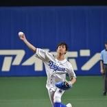 佐野岳 ナゴヤドームで始球式、ストレートで111キロを記録
