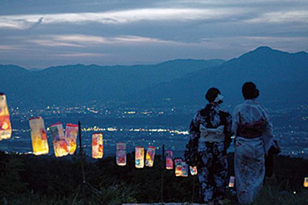 福島てっぺん公園灯籠まつり