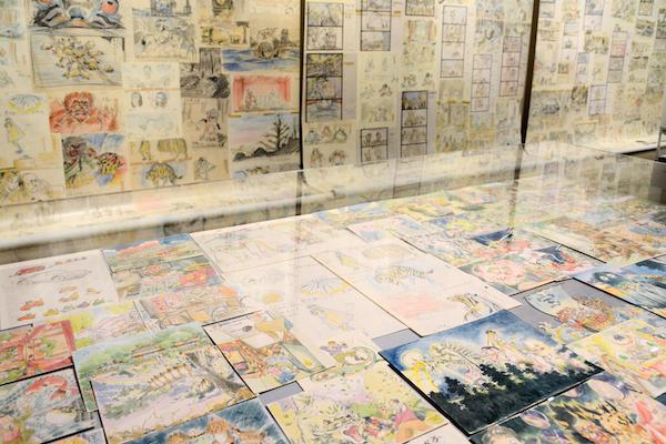 第3章『平成狸合戦ぽんぽこ』の展示風景 (C)1994  畑事務所・Studio Ghibli・NH