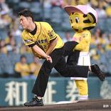 始球式に登場した間宮祥太朗 金爆・樽美酒の135kmの記録を更新し芸能人最速!