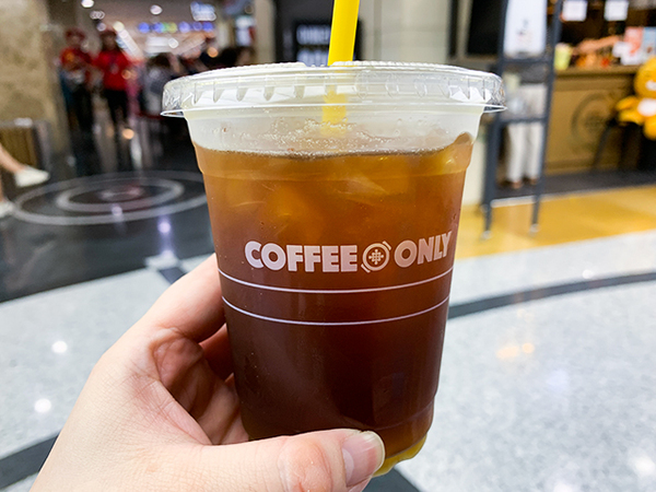 「COFFEE ONLY」で900ウォンのアメリカーノを飲んでみた