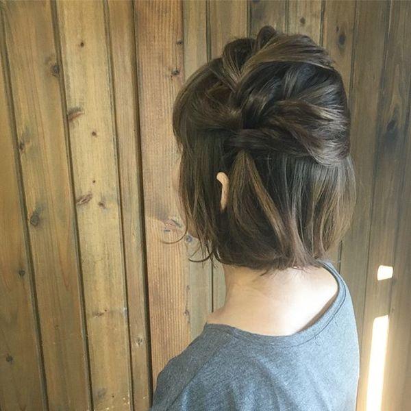 結婚式 髪型 ボブヘア ハーフアップ2