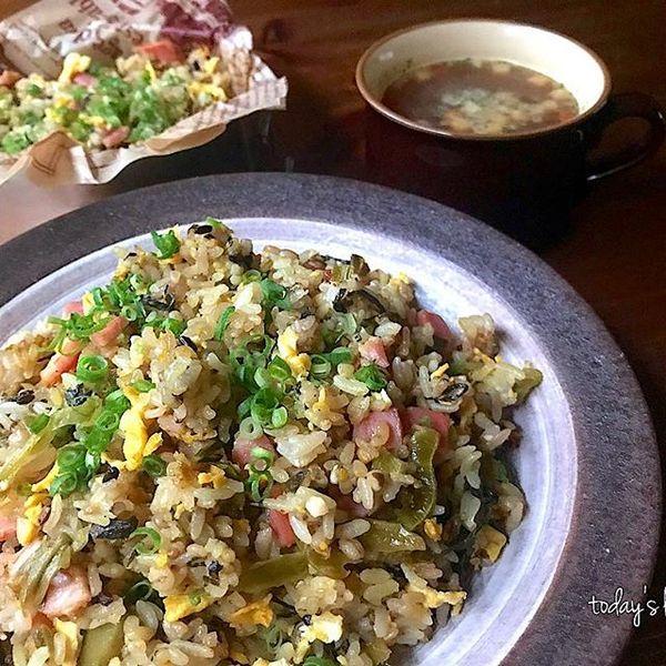 高菜チャーハン 簡単 作り方