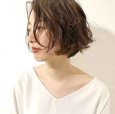 なし ワンレンボブ 前髪