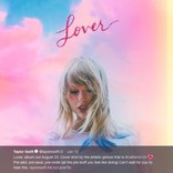 テイラー・スウィフト、新曲『Lover』が好評 「ウェディングソングにぴったり!」