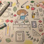 「文房具カフェ」は約5000アイテムが使い放題!お絵かきが楽しめるフードメニューも♪【表参道】