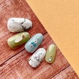 100均アイテム+食品用ラップで『大理石ネイル』ができる!自分の思い通りの柄に!?