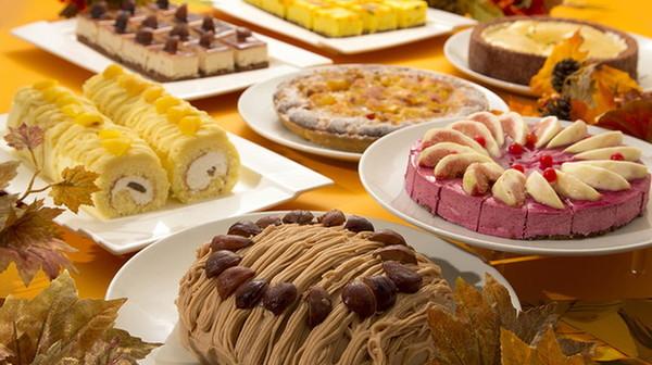 常時10種類ほどのスイーツメニューがビュッフェ台に並ぶ、「秋穫祭」開催中(期間限定)