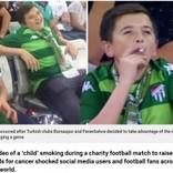 サッカー中継に喫煙する子供が映る 人々が騒ぐも実年齢が36歳と判明(トルコ)