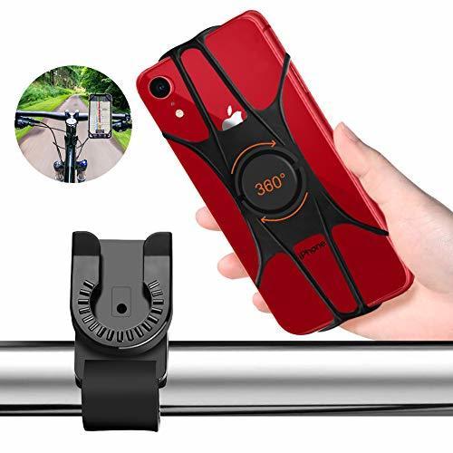 自転車ホルダー Turnraiseオートバイ バイク 自転車 スマホ ホルダー 360度回転 角度調整脱着簡単4-6.5インチiPhone7 8 X xperia sony samsung android全機種対応 携帯電話GPSナビ固定用 ブラック