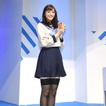 貴島明日香さんが女子高生コスプレを披露!ゲームファン待望の『十三機兵防衛圏』イベント!