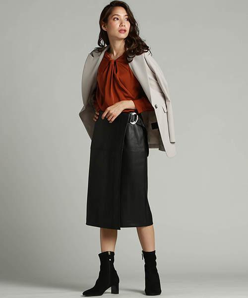 レザー スカート コーデ 意外と簡単!レザースカートの取り入れ方【27のコーデ例】