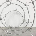 相澤安嗣志の個展、「有刺鉄線」をモチーフにインスタレーションを展開