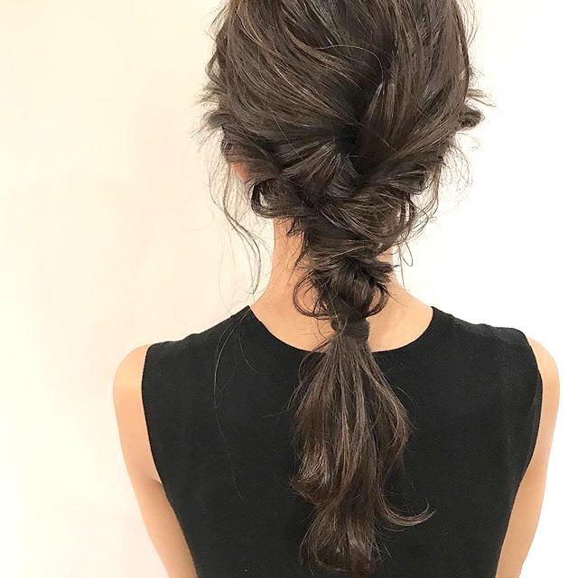 簡単 まとめ 髪 ロング