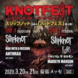 【KNOTFEST JAPAN 2020】にマンウィズ、ホルモン、マリリン・マンソン出演決定