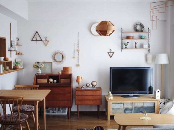 たくさんの家具を配置した15畳LDKレイアウト