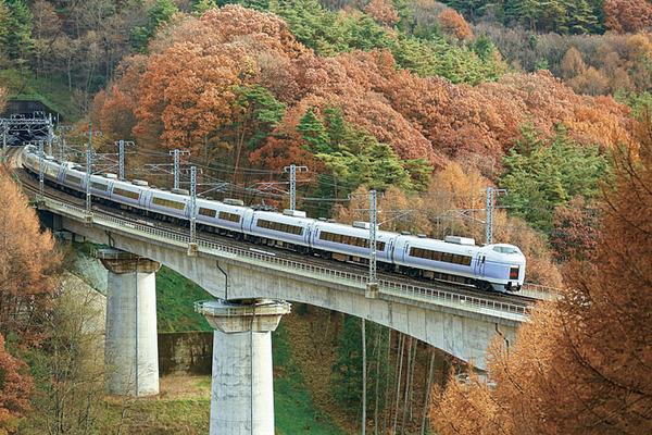 中央本線富士見駅付近