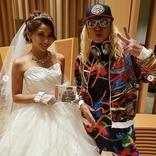 ウェディングドレス姿のゆきぽよとの2ショット公開で、DJ KOO「鬼可愛いーね!!」