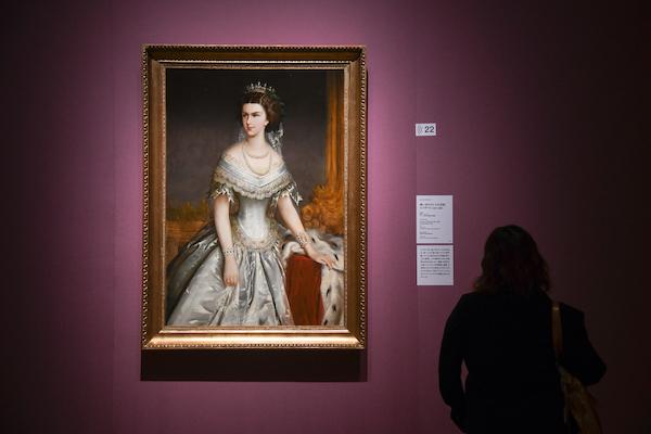 ヨーゼフ・ホラチェク《薄い青のドレスの皇后エリザベト》 1858年 ウィーン美術史美術館