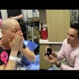 乳がんを克服した女性「どんなことがあっても離れない」と約束してくれた彼と結婚(米)<動画あり>