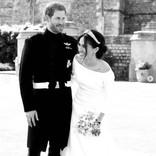 ヘンリー王子・メーガン妃夫妻、婚約発表から2年 未公開のウェディングフォトを披露