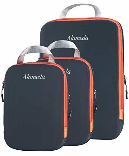 パッキングキューブ3袋セット、旅行用、圧縮袋、荷物/バックパックの整理整頓