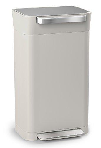 Joseph Joseph (ジョセフ ジョセフ) ペダル式ゴミ箱 ストーン 30L ゴミを1/3に圧縮するゴミ箱 クラッシュボックス 30036