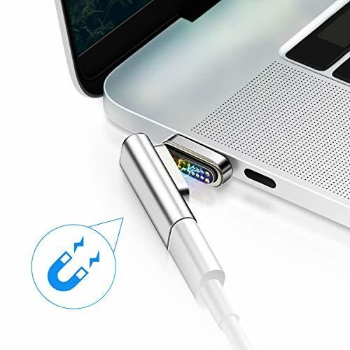 magsafe マグネットUSB C アダプター、20pin超強磁力Type c コネクタ、100W急速充電 USB3.1データ通信(10Gb/s) 4Kビデオ出力対応、MacbookやMacBook ProなどのUSB C デバイスに適用する (シルバー)