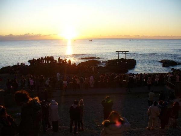 大洗磯前神社 初日の出奉拝式
