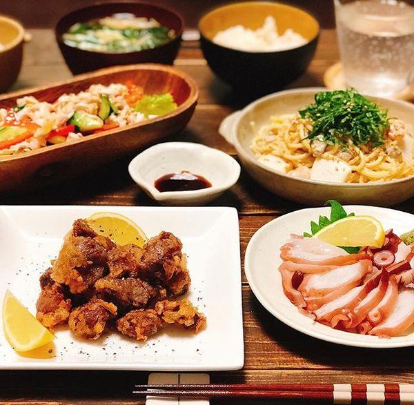 付け合わせレシピに!親子丼と砂肝の唐揚げ