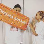 """AAA與真司郎、青山テルマLIVEへの""""サプライズゲスト""""を報告し反響「テルジロ永遠推せる」「最高のツーショット」"""