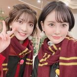 元HKT48兒玉遥&元NGT48菅原りこ、2ショット公開「涙が止まらないんだけど」