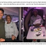 88歳の女性にファーストクラスの席を譲った男性に称賛集まる