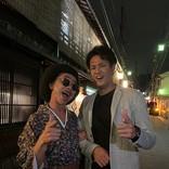 木梨憲武、京都で阪神タイガース藤浪選手とツーショット