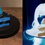 妹の「写真映え」オーダーに青と黒のケーキ作成 色を反転させたら本当に「映えた」