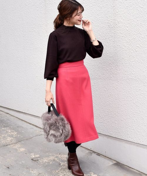 [SHIPS for women] ウールセミタイトスカート◇